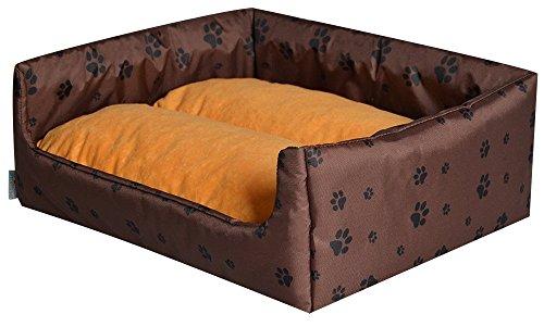 Cama para perros Perros cesta Aruba Plus marrón/amarillo s–50cm x 40cm W33202