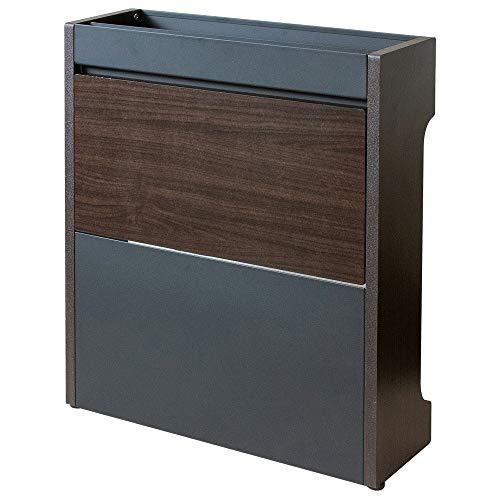 アイリスプラザ ケーブルボックス コード 収納 配線 隠す ボックスインテリア CABX-500 幅45.5×奥行14.5×高さ50㎝ ブラウン