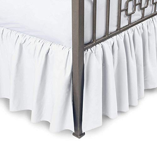 Linenwala Ruffled Bed Skirt with Split Corners - Twin XL,...