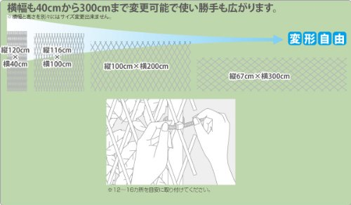 山善『グリーンフェンスリーフラティス(約100×200cm)ウッドフェンスタイプフォレストグリーン(LLE-12HFG)』