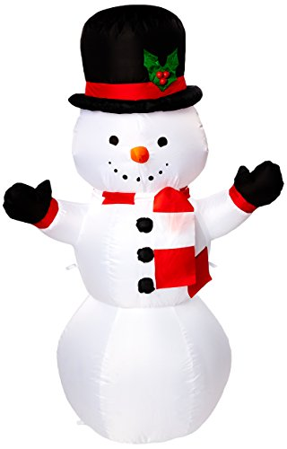 Gemmy Airblown Inflatable Snowman, 4'