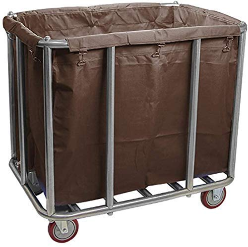 Dljyy Cart, Medical Cart, Speisewagen, Recoger, Commercial Laundry trekker met wiel, Heavy Duty rollen wasgoed sorteerwagen met afneembare tas, voor hotel Hospital, blauw