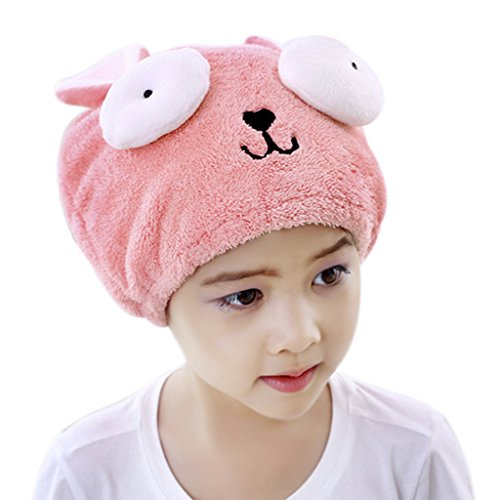Toallas de baño secador de toallas de secado rápido para niñas Cute Envoltura de cabello Hat secado Ducha Spa Piscina cubierta seca sombrero turbante seca pelo absorbente