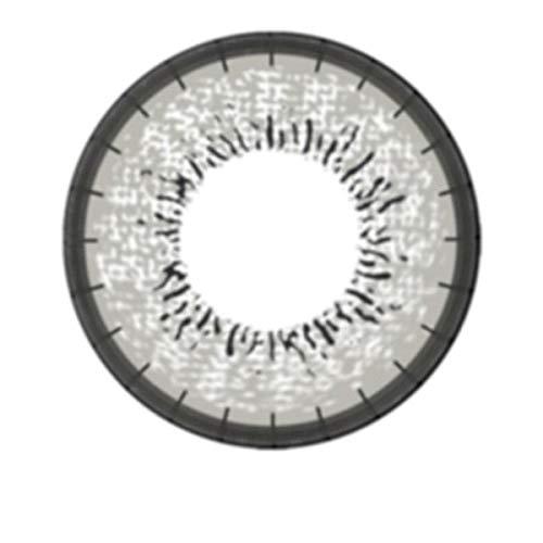 Matlens – EOS Farbige Kontaktlinsen mit Stärke circle lenses gray grau J-203 2 Linsen 1 Kontaktlinsenbehälter 1 Pflegemittel 50ml -600