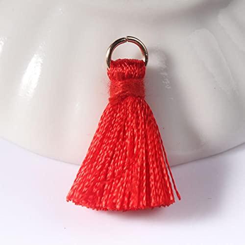 12 pz/lotto 2 cm Mini Nappe In Poliestere Piccole Nappe per Monili Che Fanno Forniture Bracciale Collana Risultati e Componenti materiale-23 Rosso