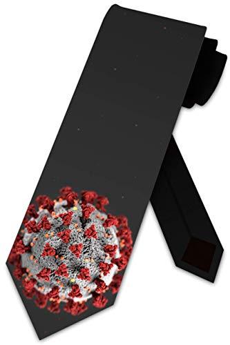 LREFON Virus Krawatten Herren COVID Science Mikroskop Krawatte Zellbindung