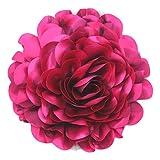 Cussi Flor Grande de Tela con Pinza 30 cm-Aplique, Tocado, decoración (Fucsia)