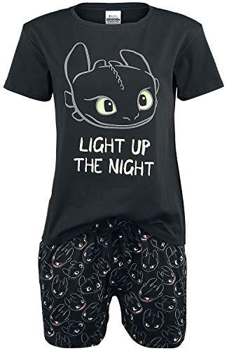 Drachenzähmen leicht gemacht Ohnezahn - Light Up Frauen Schlafanzug schwarz M