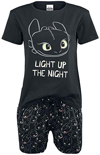 Drachenzähmen leicht gemacht Ohnezahn - Light Up Frauen Schlafanzug schwarz XL