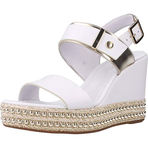 Sandalo da Donna NeroGiardini in Pelle Bianco E012450D. Scarpa dal Design Raffinato. Collezione Primavera Estate 2020. EU 35