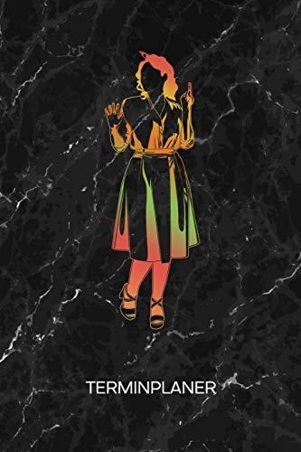 TERMINPLANER: Retro Fans Kalender 50er Mode Terminkalender - Rockabilly Kleid Wochenplaner 50er Jahre Kleid Wochenplanung Vintage Taschenkalender Oldschool To-Do Liste Termine