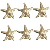 luluxing 6 pomelli a forma di stella marina per cassetti, cassetti, cassetti, cassetti, armadi, armadi, decorazioni