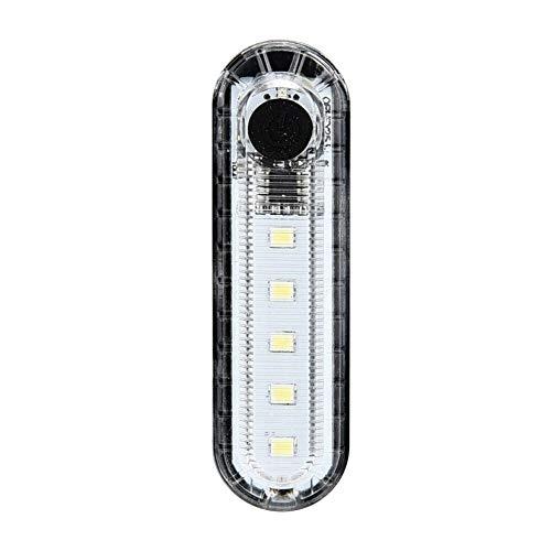 Accesorios de ciclismo USB recargable cola bicicleta de la bici 4 modos 5 LED frontal luz trasera de la lámpara linterna de la bici bicicleta linterna LED linterna Se adapta a todas las bicicletas, mo