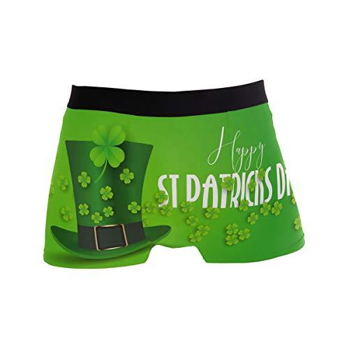 PINLLG Herren-Boxershorts St. Patrick's Day Hut Unterwäsche für Jungen Jugendliche Herren Polyester Spandex atmungsaktiv Gr. S, mehrfarbig