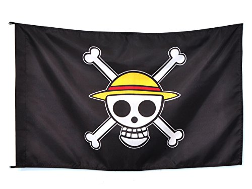 CoolChange One Piece Jolly Roggers Strohhut Flagge (95*75cm)