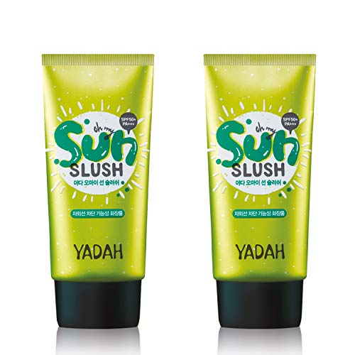 Yadah Oh My Sun Slush Natural Sunscreen Cream 1.69 Ounce, Pack of 2, Prickly Pear Cactus Sunblock Lotion | Sebum-free, Non-Sticky, Long Lasting Protection | for Sensitive or Acne-Prone Skin