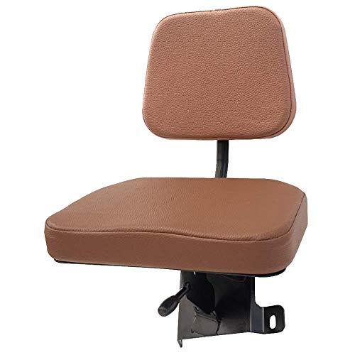 KLARA SEATS klappbarer Beifahrersitz passend für Kubota M Series Traktoren und Schlepper, PVC, braun