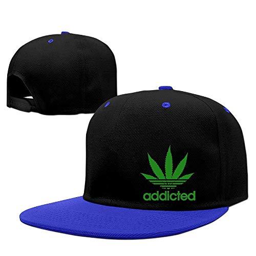 Jian Weimy Addicted Cannabis Weed Leaf Caps Men's Hip Hop Vintage Snapbacks Screen-Print Unisex Strapback Hat