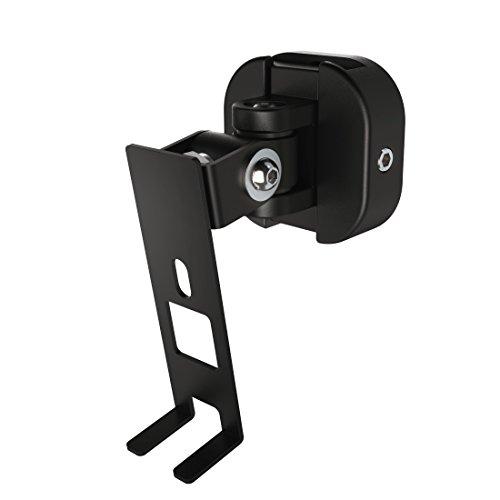 Hama Wandhalterung für Sonos PLAY:1 Lautsprecher (voll beweglicher Wandhalter, 360° drehbar, neigbar, schwenkbar, Lautsprecherhalter mit Easy-Fix-System) schwarz