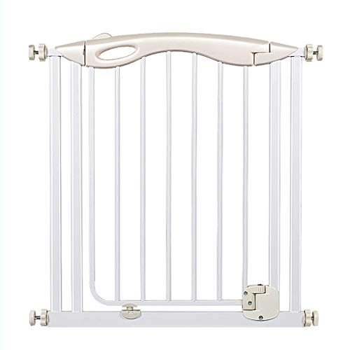 Cylficl Druck Tor Kindersicherheits-Tür-Baby-Sicherheits-Laufgitter, Treppengeländer Haustier Zaun Raumteiler Isolation Tür Punch Weiß