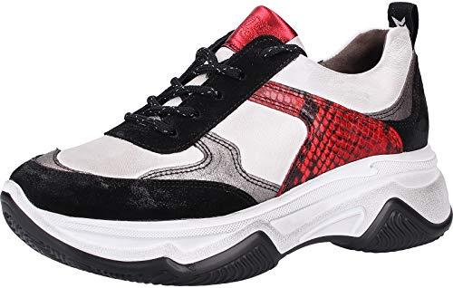Paul Green 4819 Damen Sneakers Schwarz/Rot, EU 39