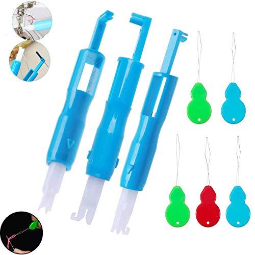 YFOX dos enhebradores de agujas,el enhebrador de agujas de coser se utiliza para enhebrar a máquina y cambiar de aguja.El enhebrador de calabaza se utiliza para enhebrar manualmente (3 + 5)