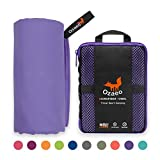 Best Towel For Camping - Ozaeo Microfiber Travel Towel, Lightweight Gym Towel, Quick Review