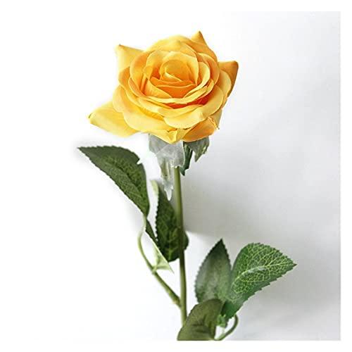 GUOQIANRU Plantas Artificiales 1 Pieza Romántica Flor De Rosa Artificial DIY De Seda Frescas para Decoración De Fiesta De Boda En Casa Artificiales Decoracion (Color : 4)