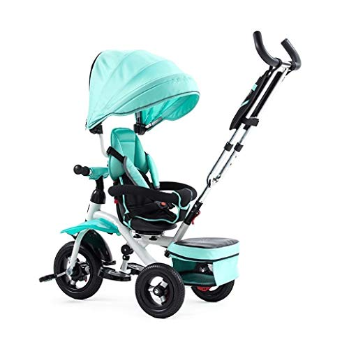 Best Bargain GY Children's Tricycle Stroller Tricycle Convertible, Reclining Seats, Tricycle, Foldin...