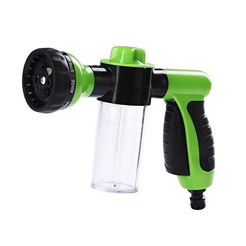 SUMLINK Spray Gun Nozzle, Garden Hose Attachment Spray Gun Nozzle with Reservoir for Soap or Fertiliser
