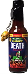 Blair's sudden death sauce is the closest hot sauce to blair's mega death sauce with regards to being hot.