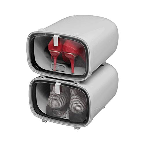 Zapatero pequeño Pequeño zapato apilable zapato caja de almacenamiento de caja de almacenamiento Estante de zapato ideal para sala de estar Corredor Dormitorio Multifunción Home Storage Rack Hall de e