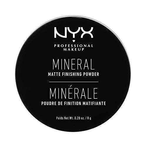 NYX Professional Makeup Polvos Fijadores Sueltos Mineral Finishing Powder, Acabado Mate sin Brillos, Fórmula vegana, Tono: Light/Medium