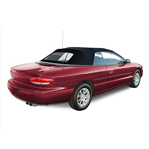 AutoBerry Convertible Soft Top & Heated Glass window Compatible with Chrysler Sebring 1996-2006 (Black) 2001 Chrysler Sebring Window