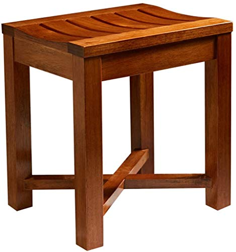 WYJW Badkruk voor de badkamer van hout, van rubber, van eikenhout, voor badkamer, zitbank, waterdicht, antislip, voor deuren met kruisframe en oppervlak