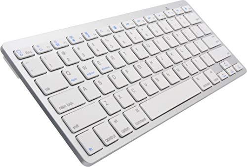 オーディオファン ワイヤレスキーボード Bluetooth 薄型 ホワイト iOS/Android/Mac/Windows