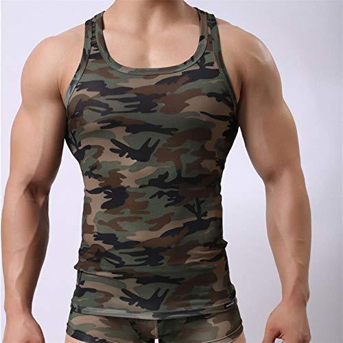 EKL Heren Sweatshirt Camouflage korte mouwen Jumpsuit worstelen Sweatshirt pyjama ondergoed Fitness kleding Vest