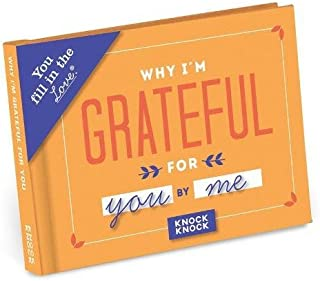 Knock Knock Why I'm Grateful for You Fill in the Love Book Fill-in-the-Blank Gift Journal