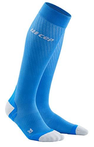 CEP Unisex-Adult Run Socken, ULTRALIGHT - Electric Blue/Light Grey, 42-46