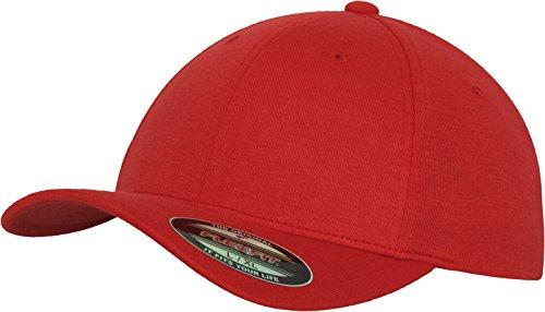 Flexfit Erwachsene Mütze Double Jersey, Red S/M