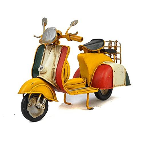 WANGCH Pedal Retro Hecho a Mano Adornos Antiguos de Motocicleta Vintage/Retro Home Bar Restaurante Simulación Modelo clásico de Moto/Bicicleta de Motor de Juguete de aleación estática/Regalo de