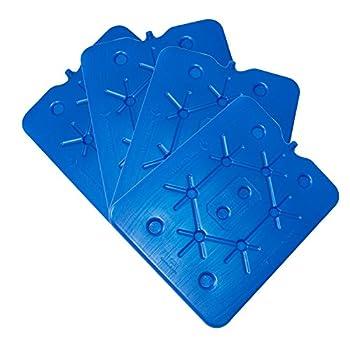 ToCi XXL Bloc réfrigérant pour glacière, bleu, 32 x 25 cm, 800 ml, Lot de 4