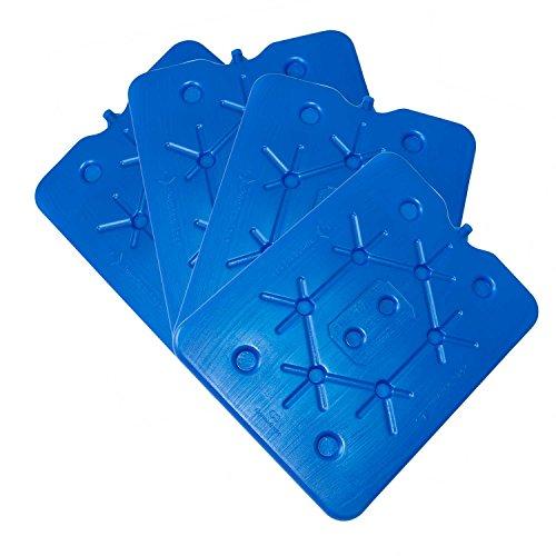 ToCi XXL - Freezeboard (32 x 25 cm) con 800 ml, batteria termica blu per borsa frigo, 4 pezzi