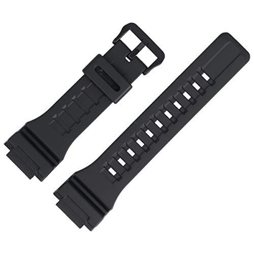 Casio W-735H - Correa para reloj (plástico, 28 mm), color negro