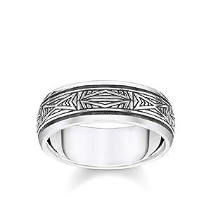 THOMAS SABO Unisex Ring Ornamente Silber 925 Sterlingsilber, Geschwärzt TR2277-637-21