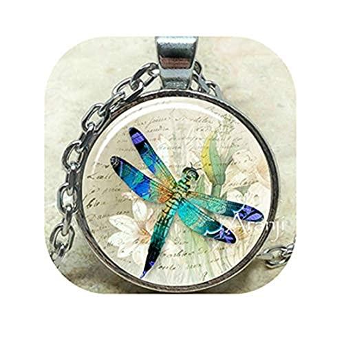 Youkeshan Colgante azul de la libélula del arte, collar de la libélula del collar, colgante de la libélula de la libélula, joyería de la libélula de la libélula colgante4801087390833