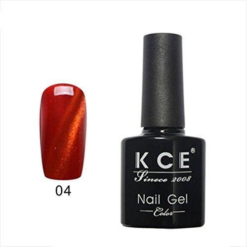 Mingfa Chamäleon-Gel-Nagellack, 3D, magnetisch, Katzenauge, holografischer Glitzer, UV/LED, Soak-Off-Gellack, 7,5 ml (D)