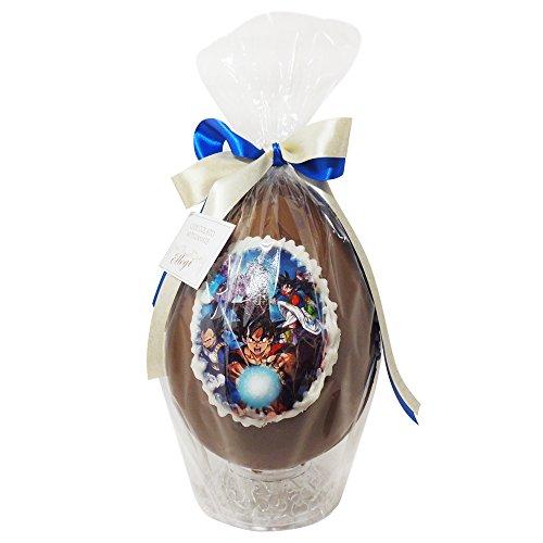 Uovo di Pasqua ARTIGIANALE DRAGONBALL con SORPRESA da 350 gr - Cioccolato al latte Goku Vegeta (350 gr) Pasqua Uovo di cioccolato