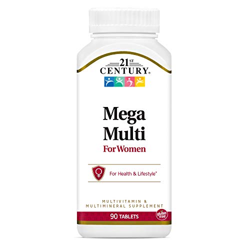 21st Century Mega Multi for Women Tablets, 90 Count (22659)