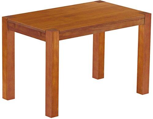Brasilmöbel Esstisch Rio Kanto 120x73 cm Kirschbaum Pinie Massivholz Größe und Farbe wählbar Esszimmertisch Küchentisch Holztisch Echtholz vorgerichtet für Ansteckplatten Tisch ausziehbar